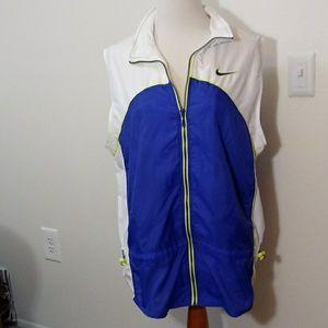 Nike white and purple vest nylon size XL